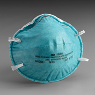 3M 1860S Particulate Respirator/Surgical Mask Cone Earloops-120/Case