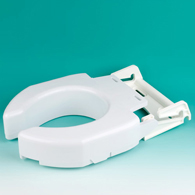 Ableware 725680000/725680001 Secure-Bolt Hinged Elevated Toilet Seats