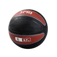 SPRI 05-58473 (MED-6R) 6lb Xerball-Red and Black